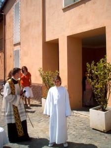 Don Luigi all'epoca del suo mandato di Parroco della Forcella