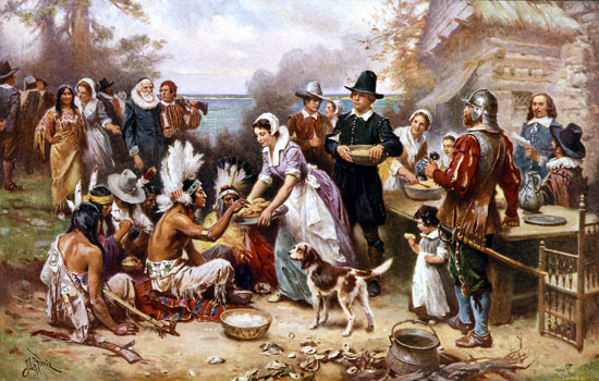The first Thanksgiving Day (24 novembre) - Storia  dans immagini e testi first-thanksgiving