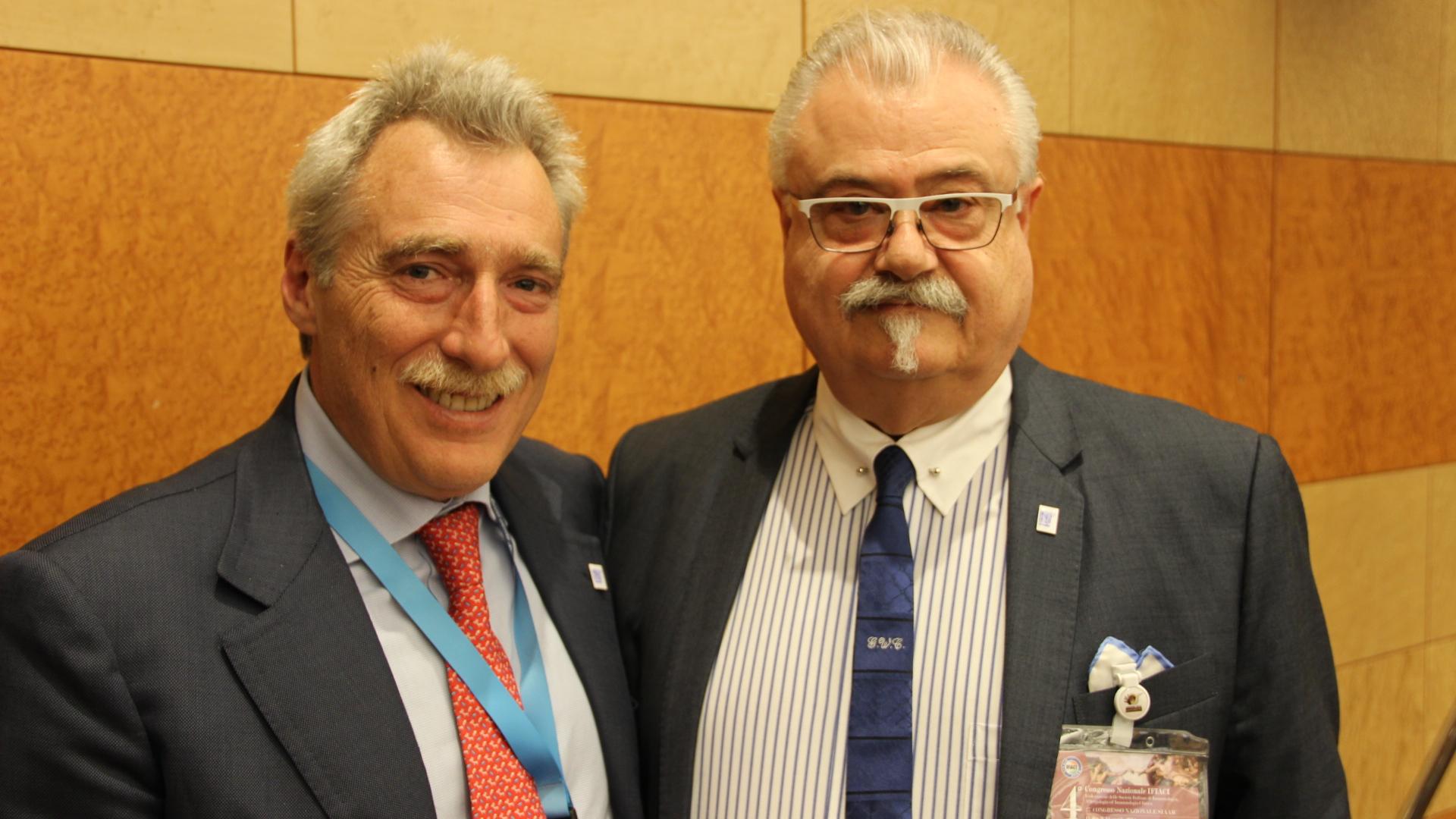 da sx Prof. Massimo Triggiani e Prof. Giorgio W. Canonica