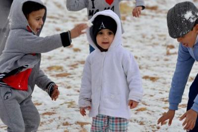 Arabia Saudita: nevica dopo 85 anni