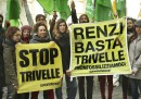 Trivelle, sit-in a Montecitorio per l'Election Day