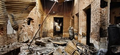 Kunduz ospedale bombardato